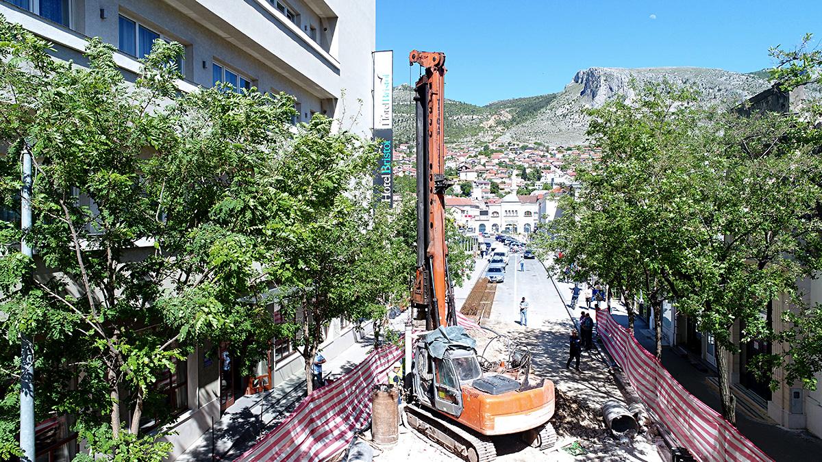 Osiguranje građevinske jame na lokalitetu Mostara
