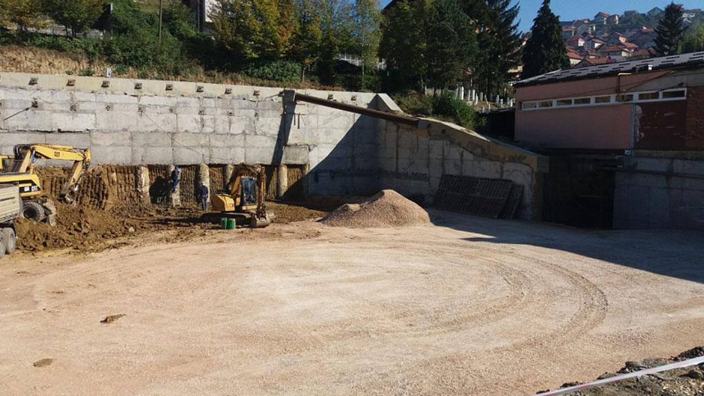 """Građevinske jama OŠ """"Buljakov Potok"""
